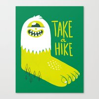 bigfoot Canvas Prints featuring Advice Bigfoot by Morkki