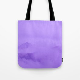 Lilac Fog Surrounding Anchorage Mountains Tote Bag
