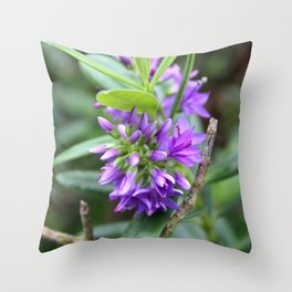 Purple Paradise Throw Pillow