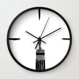 The Old Minimalistic Paint Brush Wall Clock