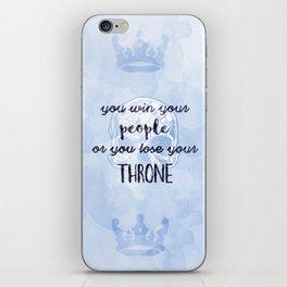 WIN YOUR PEOPLE iPhone Skin