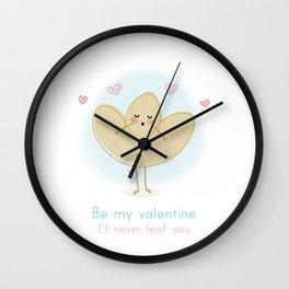 I'll Never Leaf You Wall Clock