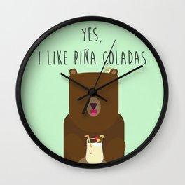 Yes, I Like Piña Coladas Wall Clock