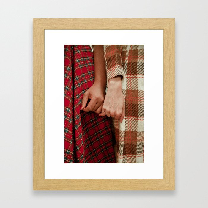 Helping Hands- Pinky Promise Framed Art Print
