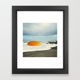Beach Egg - Sunny side up Framed Art Print