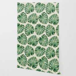 Tropical monstera leaves Wallpaper