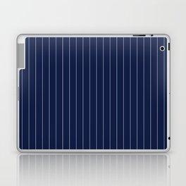 Navy Blue Pinstripes Line Laptop & iPad Skin