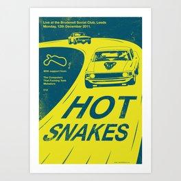 Hot Snakes Gig Poster Art Print