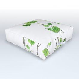 green indoor plant watercolor Outdoor Floor Cushion