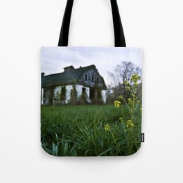 Dilapidated Farm and Mustard Seed Tote Bag