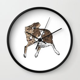 Dog Lover (Brown, White, & Tan Australian Shepherd) Wall Clock