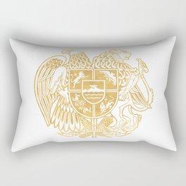 ARMENIAN COAT OF ARMS - Gold Rectangular Pillow