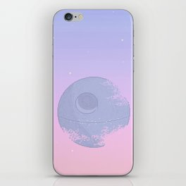 Pastel Death Star iPhone Skin