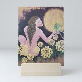 Shared Beauty Under the Golden Moon Mini Art Print