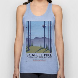 Scafell Pike Lake District National Park Unisex Tank Top