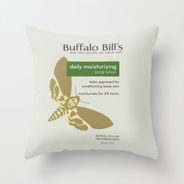 Buffalo Bil's Body Lotion Throw Pillow