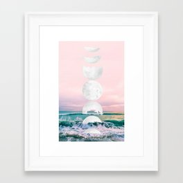 The Moon and the Tides Framed Art Print
