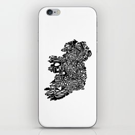 Typographic Ireland iPhone Skin