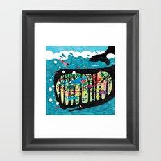 The underwater forest Framed Art Print