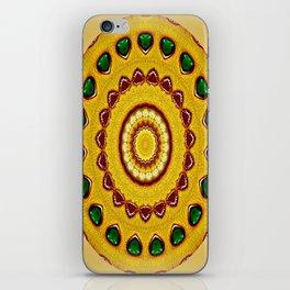 Golden Jewel with Emerald stones  iPhone Skin