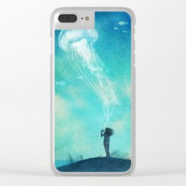 The Thing About Jellyfish Clear iPhone Case