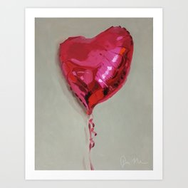 Magenta Balloon Art Print