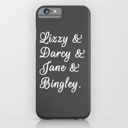 Pride and Prejudice Couples II iPhone Case