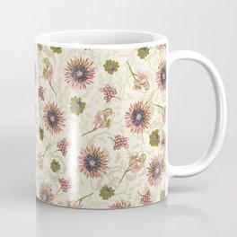 Botanical Pink on Cream Coffee Mug