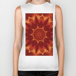 Red Supernova - Abstract Kaleidoscope Art by Fluid Nature Biker Tank