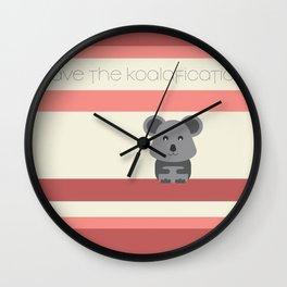 Koalafication Wall Clock