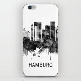 Hamburg Germany Skyline BW iPhone Skin