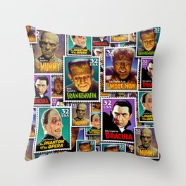 MONSTER Mail by iamjohnlogan Throw Pillow