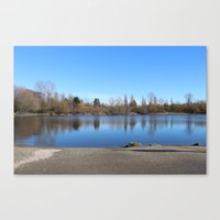 trout Canvas Prints featuring Trout Lake by RMK Creative