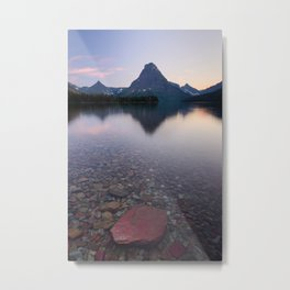 TWO MEDICINE LAKE SUNSET - GLACIER NATIONAL PARK MONTANA - LANDSCAPE PHOTOGRAPHY PRINT Metal Print