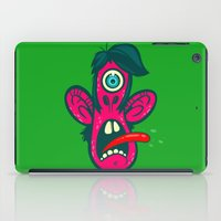 cyclops iPad Cases featuring Frightened Cyclops by Artistic Dyslexia