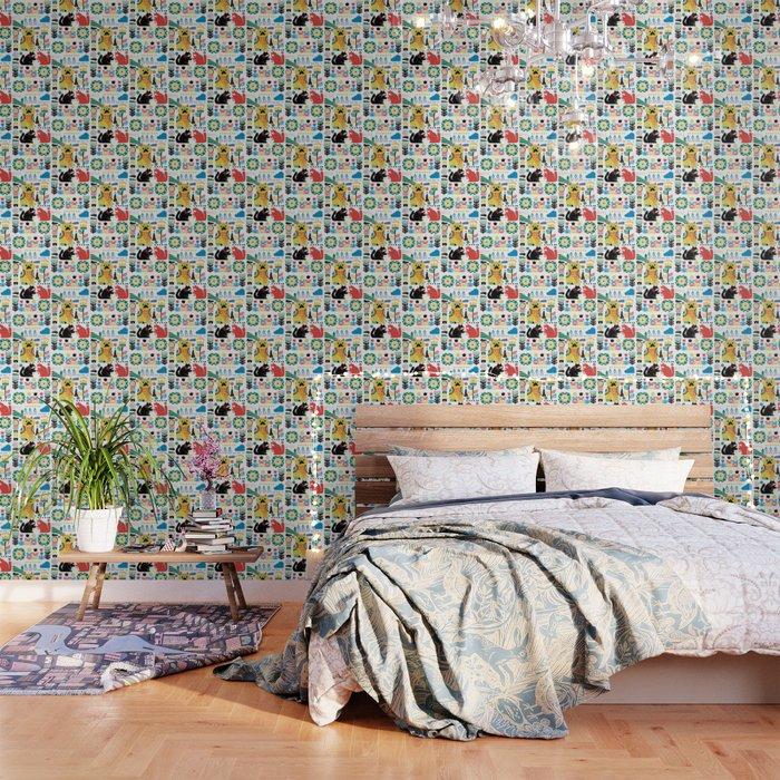 Scandinavian Cats Wallpaper