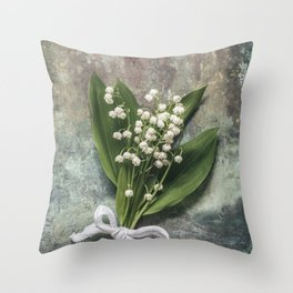 Beautiful Lily Of The Valley Throw Pillow
