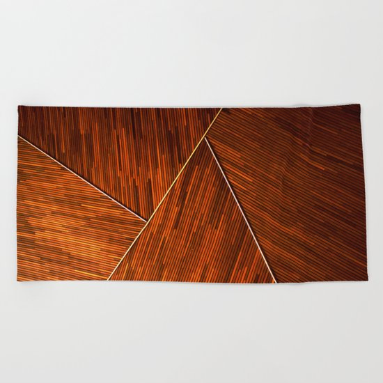 Geometric Grain Beach Towel