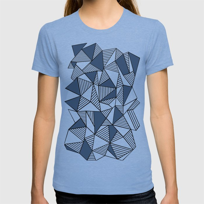Abstraction Lines with Navy Blocks T-shirt