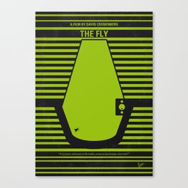 No991 My THE FLY minimal movie poster Canvas Print
