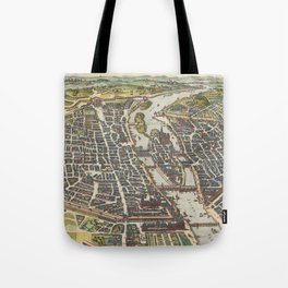 Vintage Map of Paris France (1655) Tote Bag