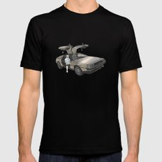 Stormtroooper in a DeLorean - star wars Mens Fitted Tee Black SMALL
