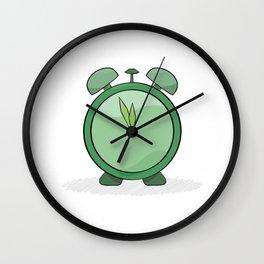 green alarm clock Wall Clock