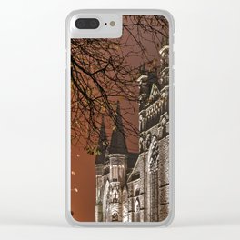 Durham orange glow Clear iPhone Case