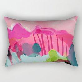 pink mountain Rectangular Pillow