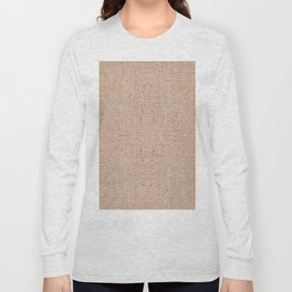 Beige flax cloth texture abstract Long Sleeve T-shirt