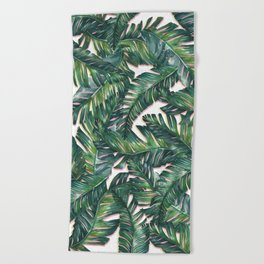 banana leaf 3 Beach Towel