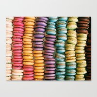 macarons Canvas Prints featuring Macarons by Jessica Giles