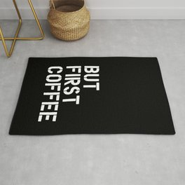 But First Coffee typography wall art home decor Rug