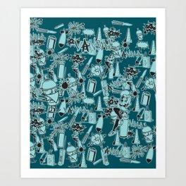 TEAL VANDAL CLASSICS Art Print